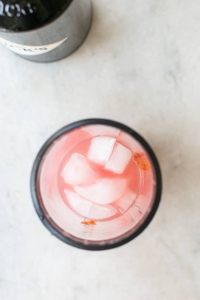red pepper jelly in a cocktail shaker