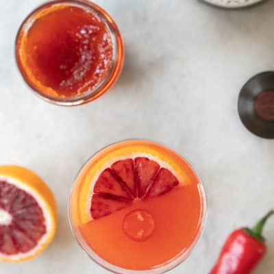 Red Pepper Jelly Cocktail