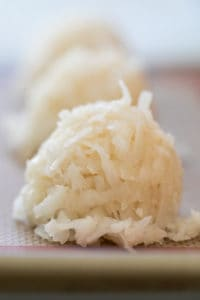coconut macaroon on a silpat