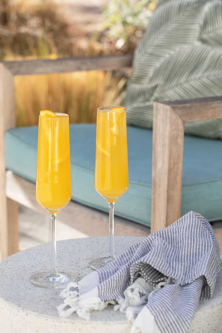 orange cocktail outside
