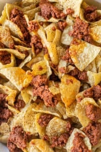 nachos with chorizo
