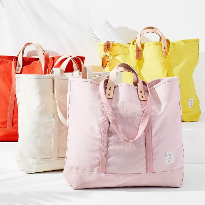 colorful beach totes