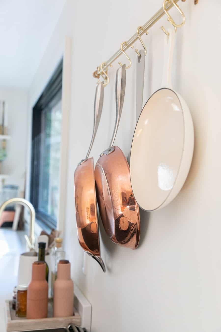 Williams Sonoma copper pots
