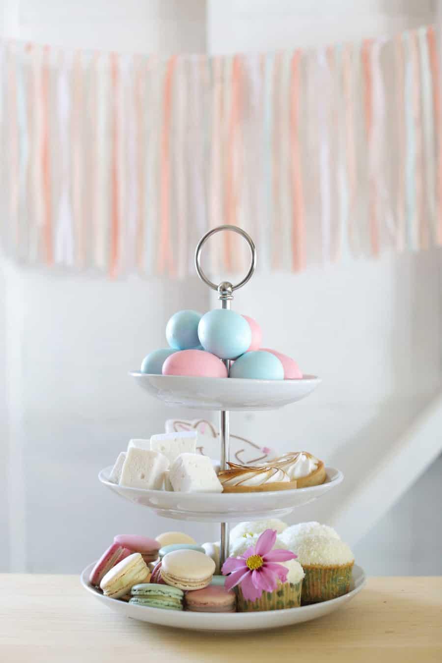 Dessert tower for Easter