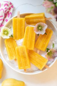 Ginger Papaya Mango Popsicles