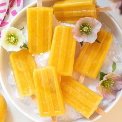 Ginger Papaya Mango Popsicles