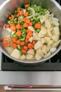 vegetables in a large pot