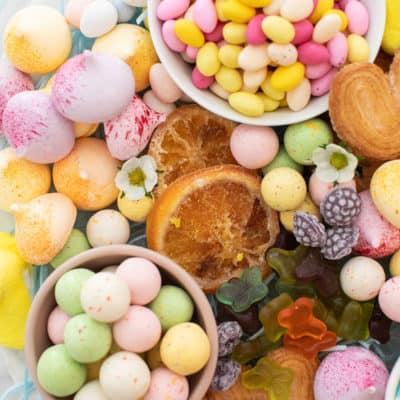 Make a Candy Platter for Easter Dessert!