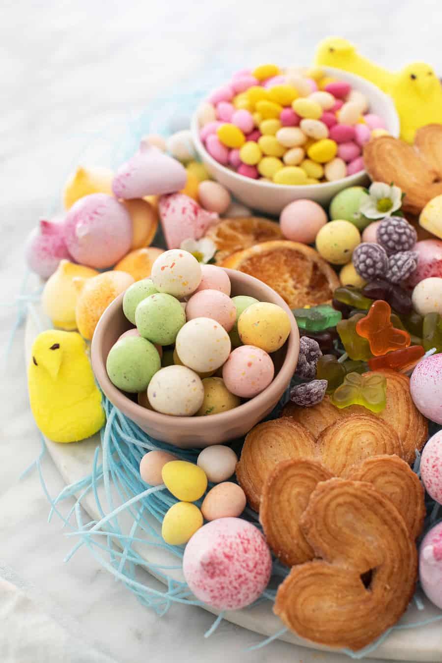Easter candy platter