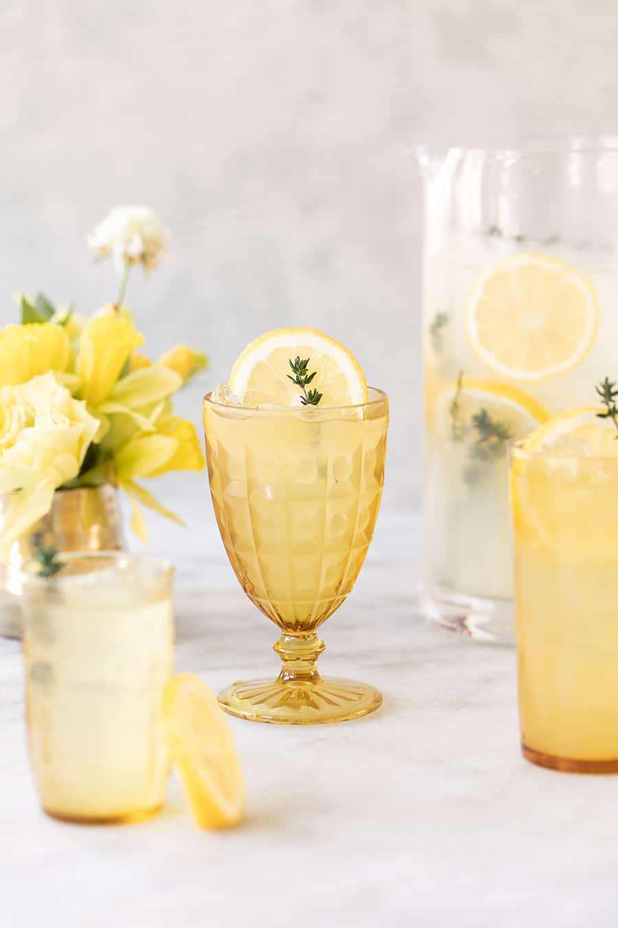 Tequila cocktail with lemonade