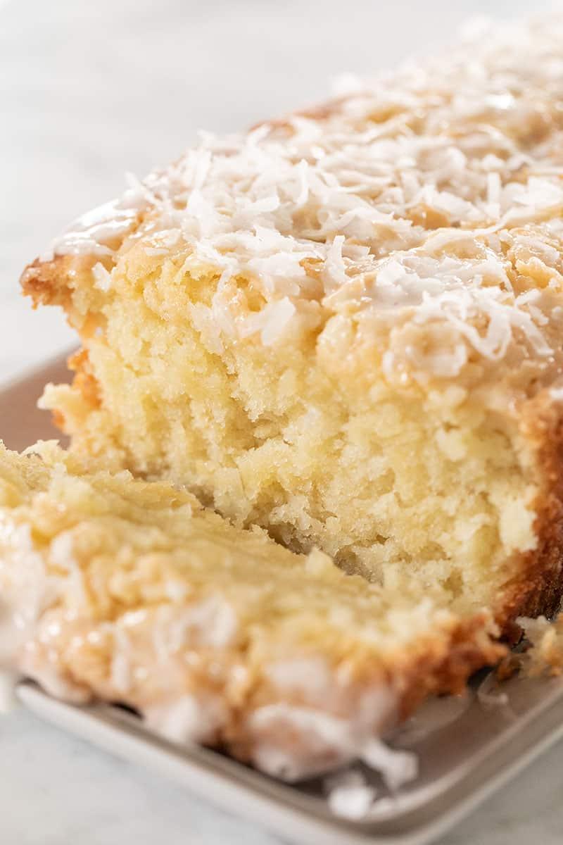 Coconut loaf cake for Easter