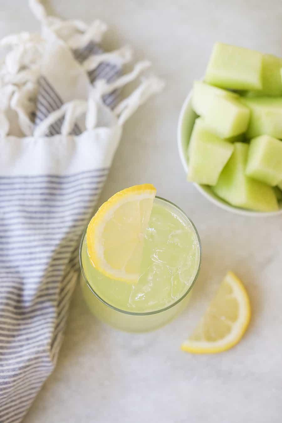 Refreshing honeydew lemonade