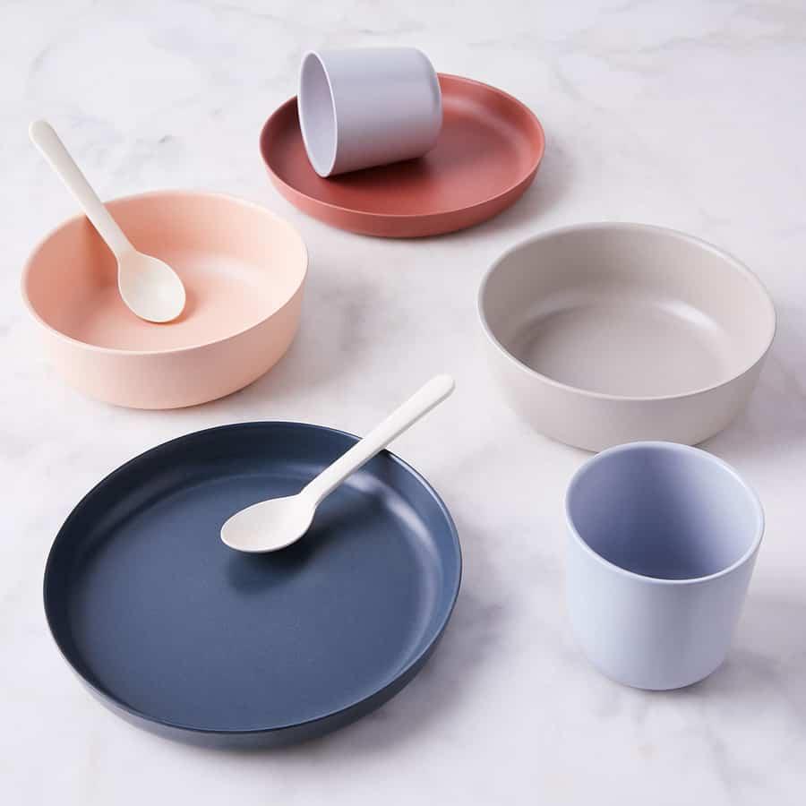 Bamboo plates and bowls