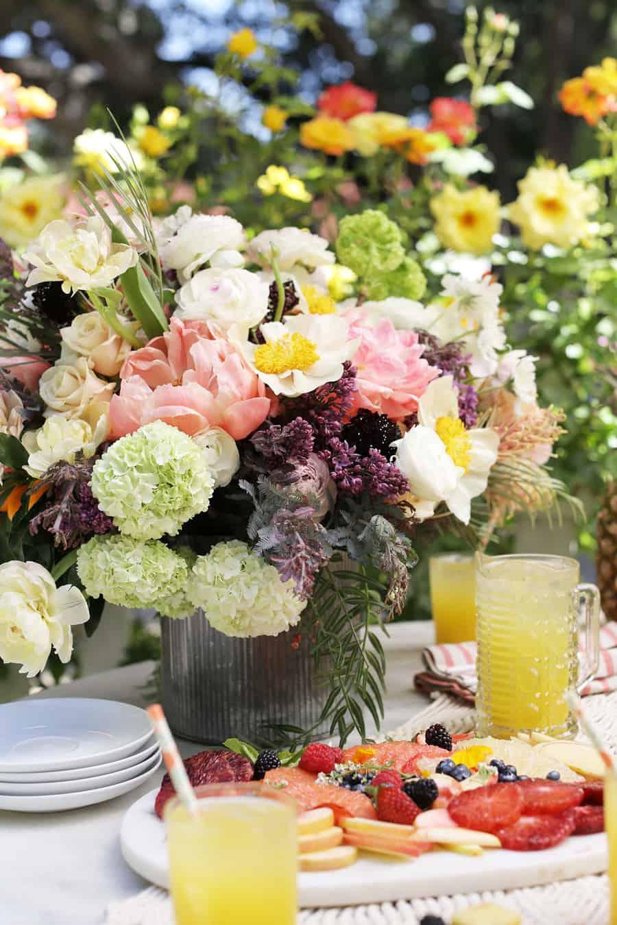 Beautiful spring flower arrangement