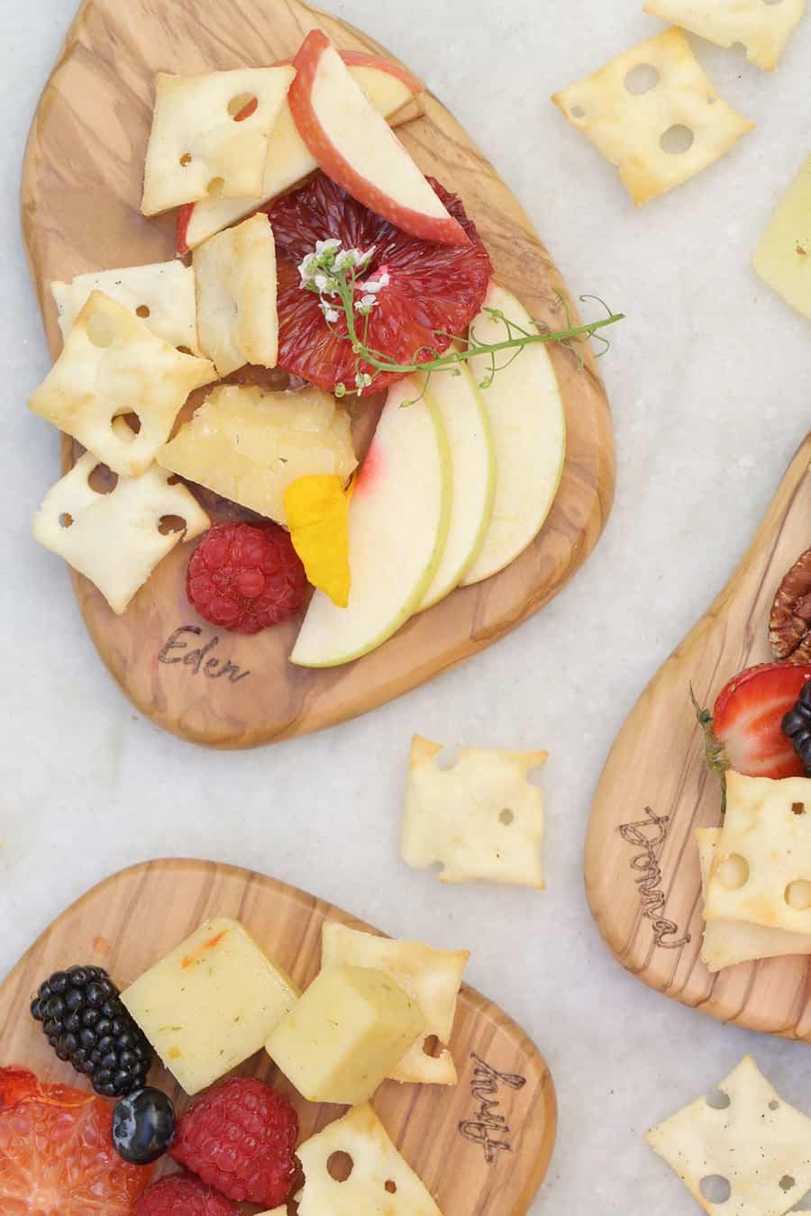 personalized mini cheese boards