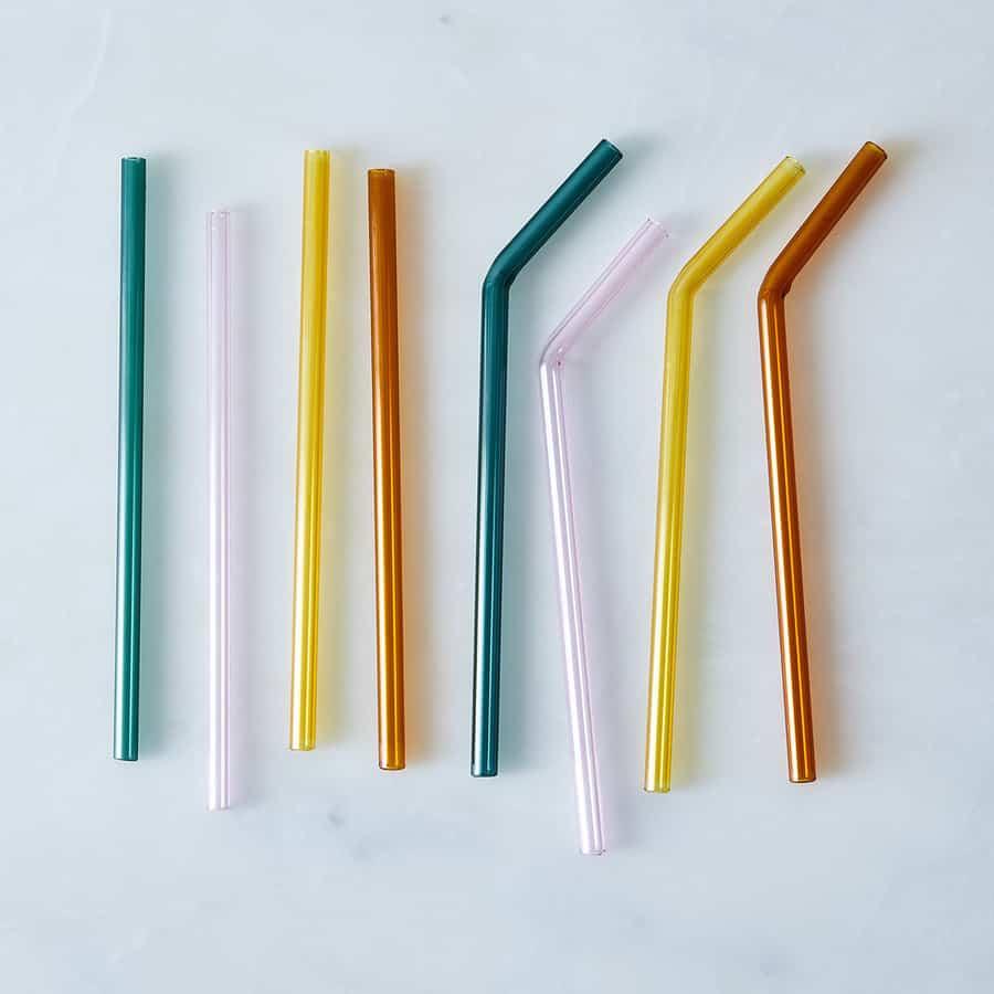 Colorful glass straws
