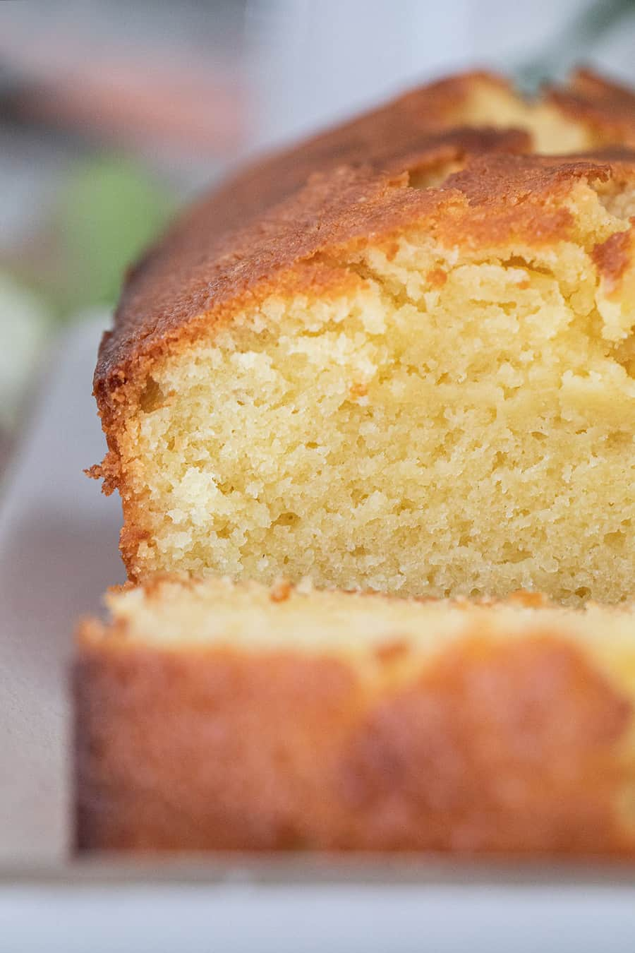 Buttery moist pound cake