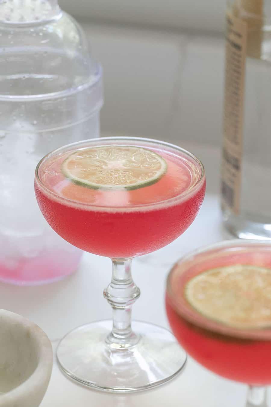 Cosmopolitan vodka cocktail