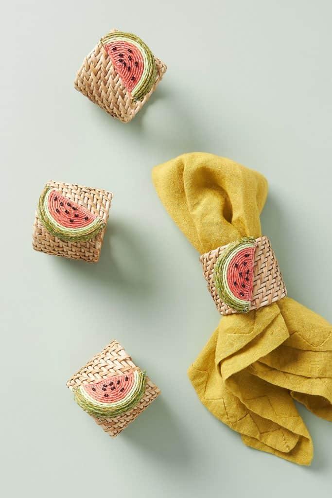 Watermelon napkin holders