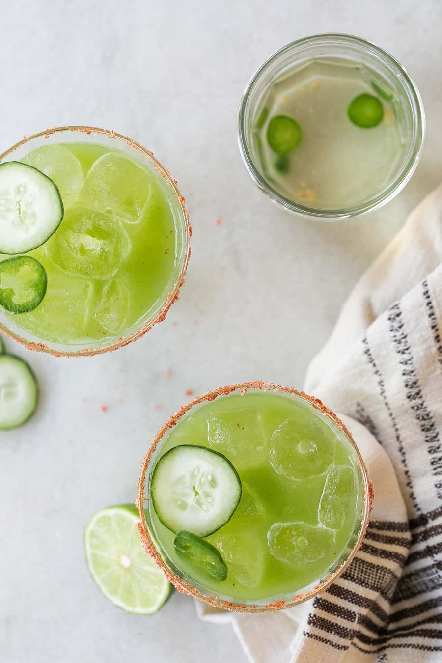 Sargent pepper green spicy cocktail with cucumber and jalapeño tequila