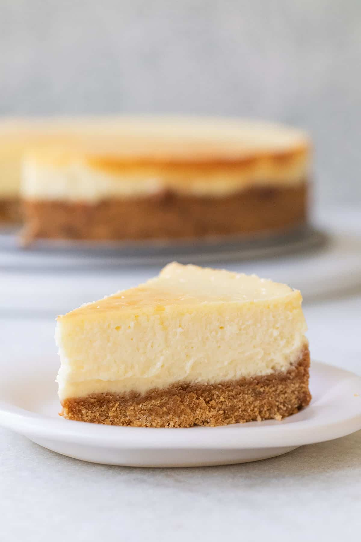 slice of the best cheesecake