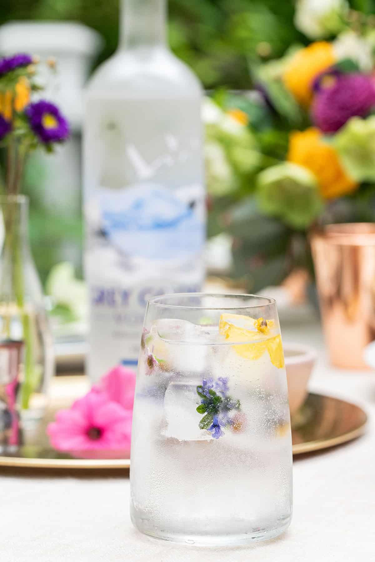 summer cocktails with vodka soda