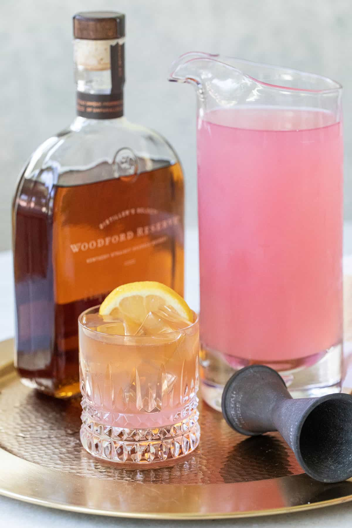 bourbon and pink lemonade