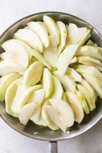 sliced apples for easy apple crisp
