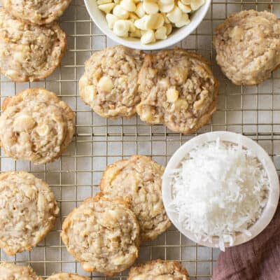how to make kitchen sink cookies with coconut shreds and white chocolate chips