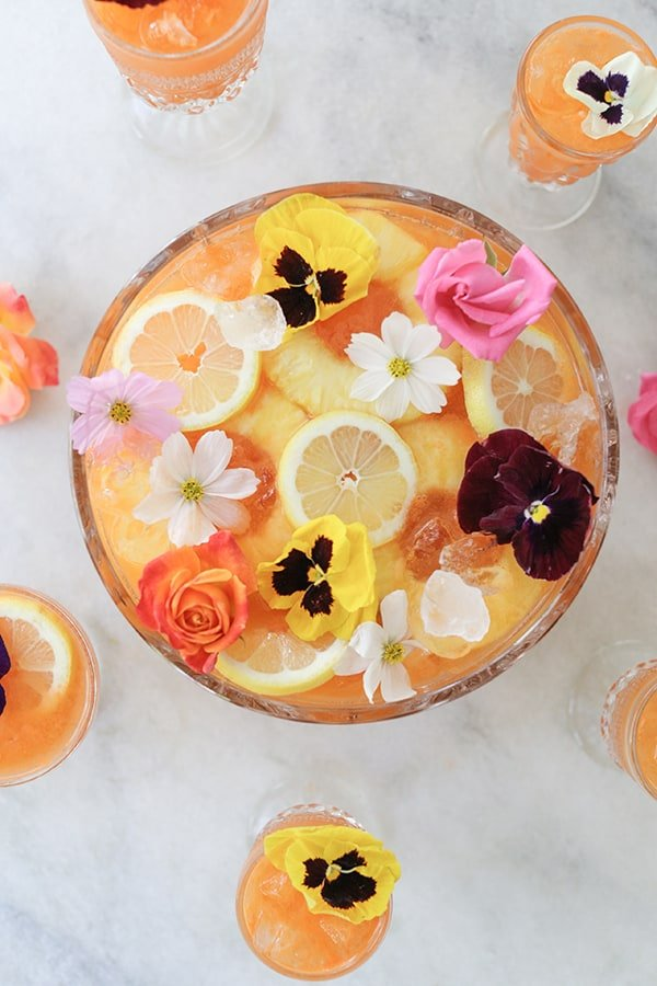 gin punch with pineapple