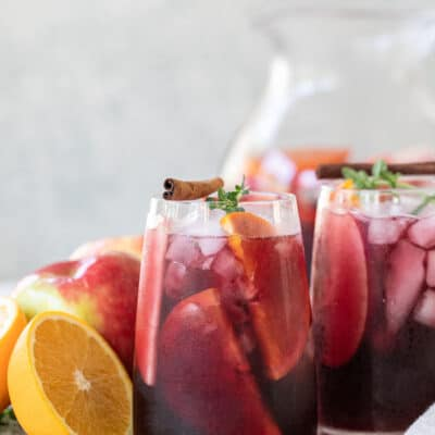 Fall Sangria with Apple Cider