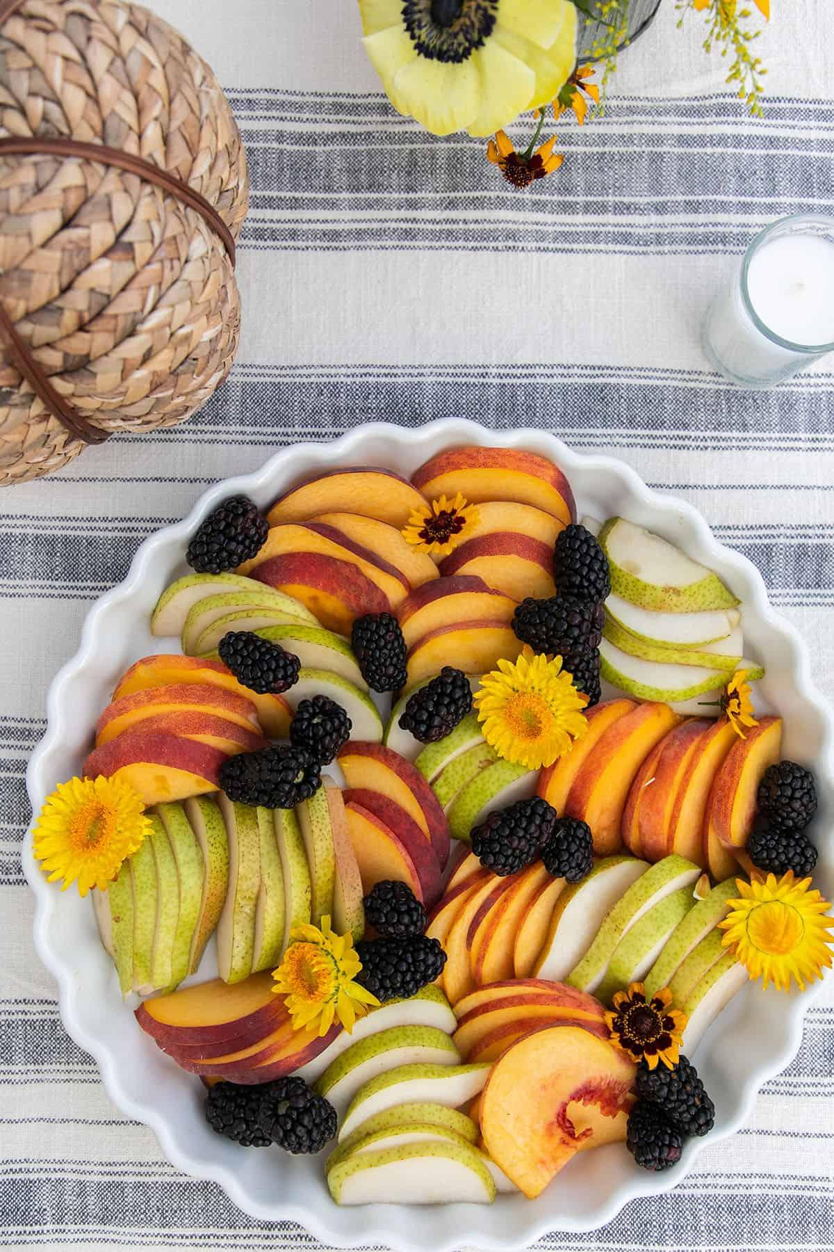 fall harvest fruit platter