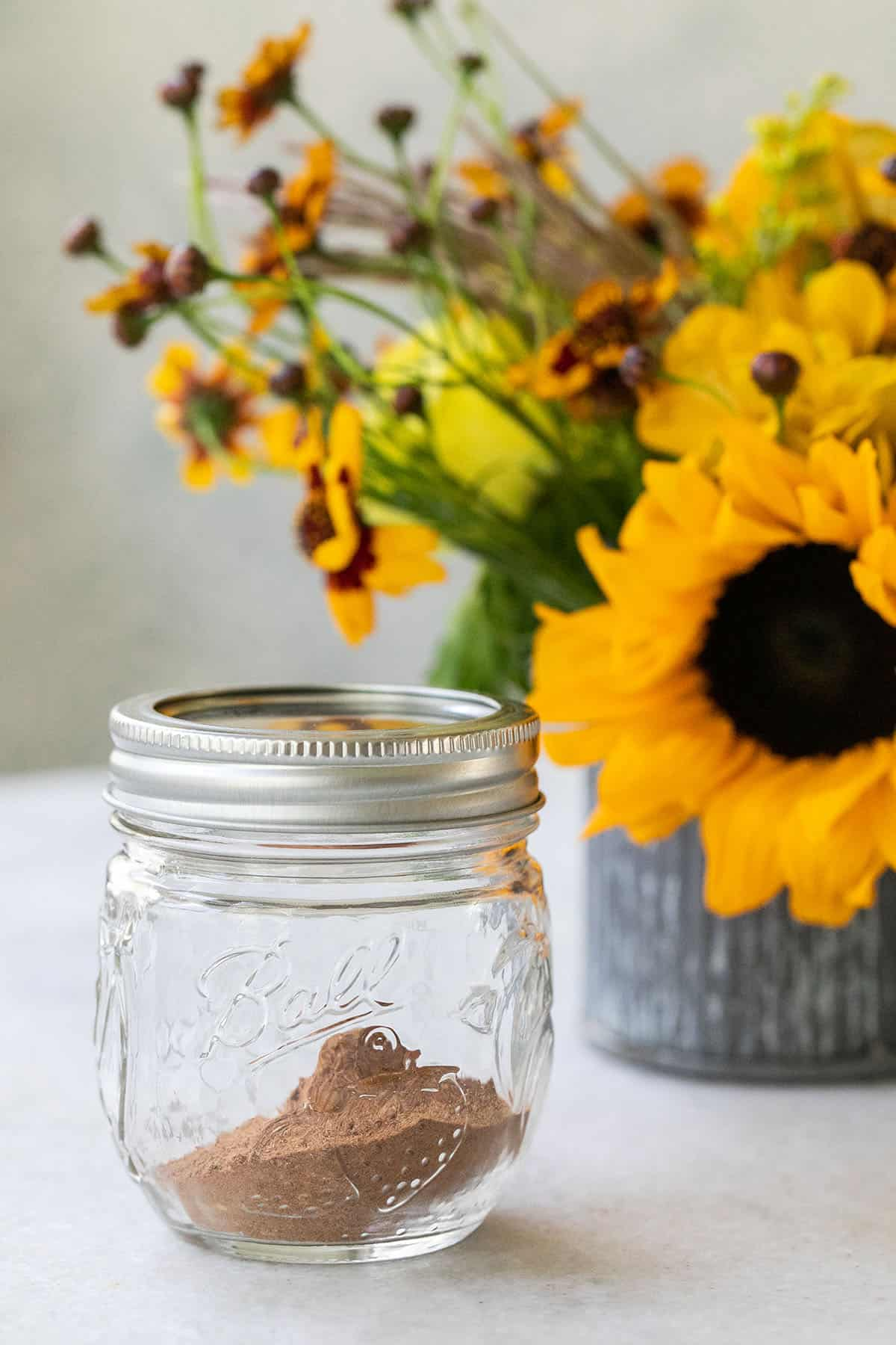 homemade spice in a jar