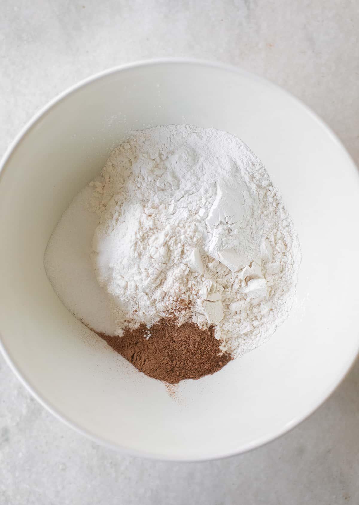 dry ingredients for pumpkin pancakes