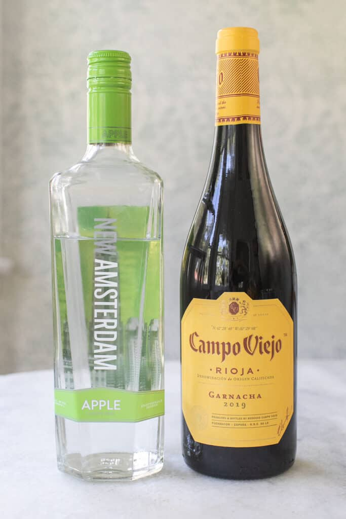 apple vodka and Rioja