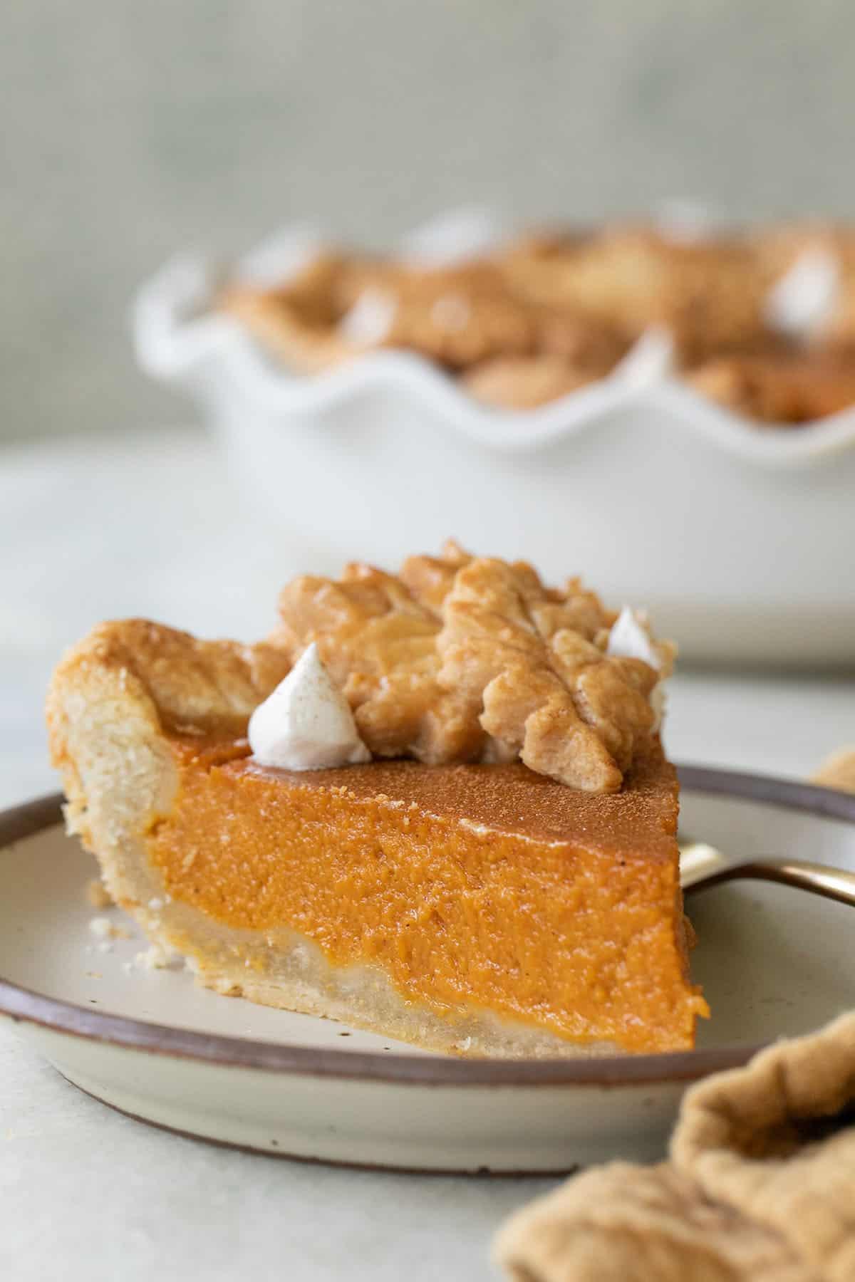 slice of easy sweet potato pie